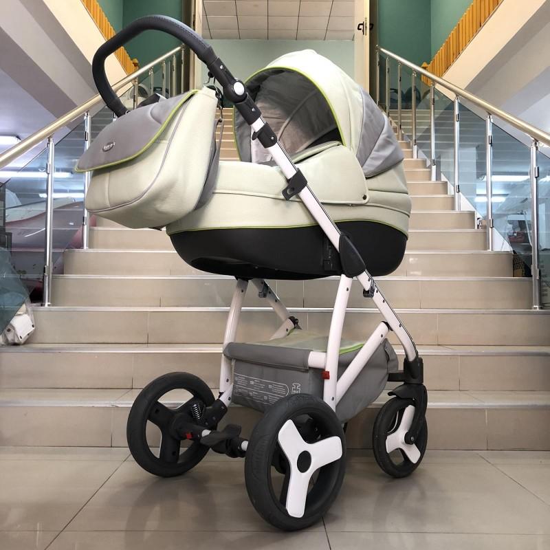 Бебешка количка Angelo 2в1: цвят: светло-зелен/сив