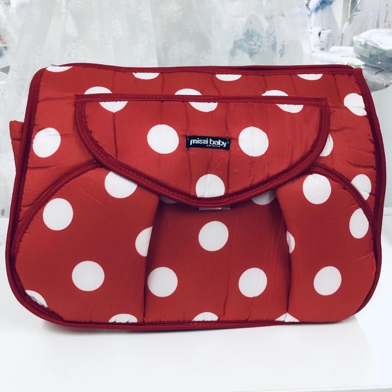Чанта Миси : цвят: червен/бели точки