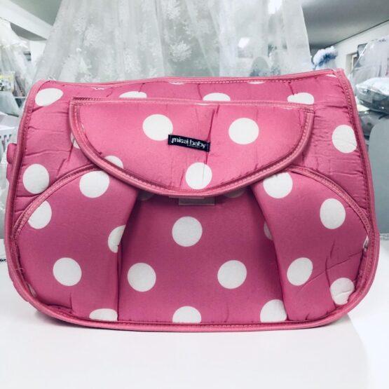 Чанта Миси : цвят : розов/бели точки