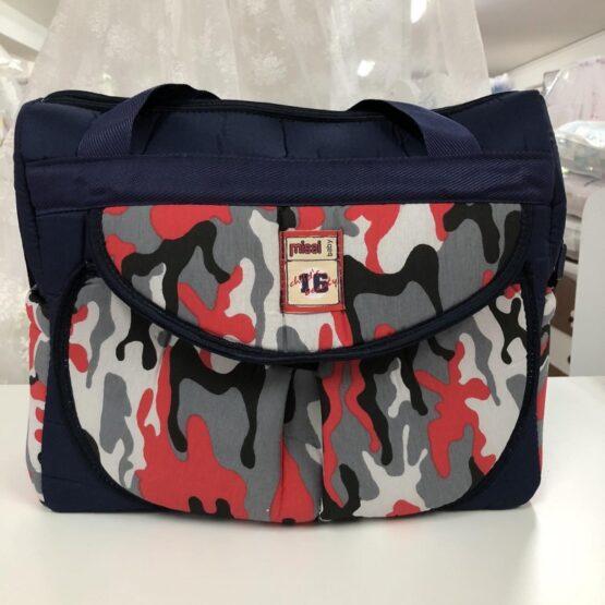 Чанта Миси : цвят тъмно-син/шарки