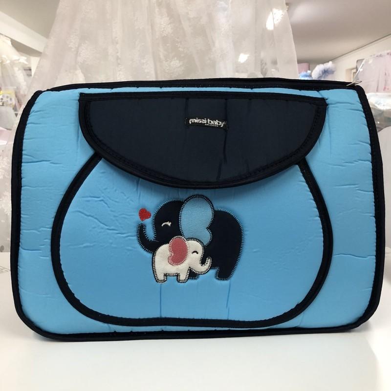 Чанта Миси : цвят : син/слончета