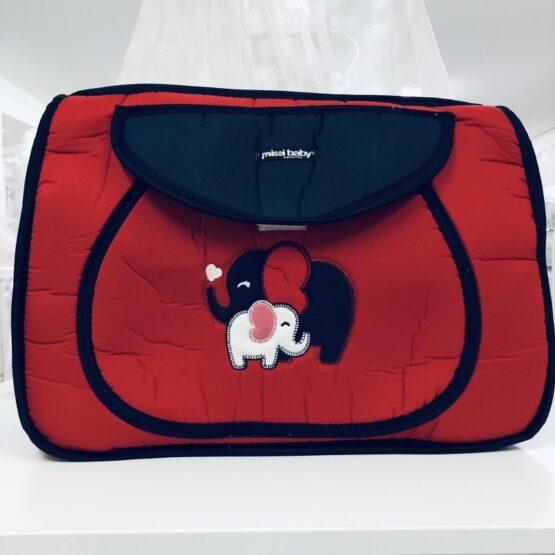 Чанта Миси : цвят : червен/слончета