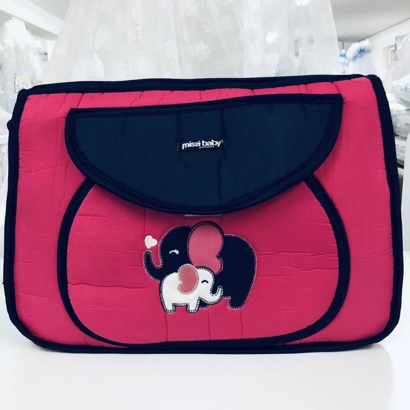 Чанта Миси : цвят : циклама/слончета