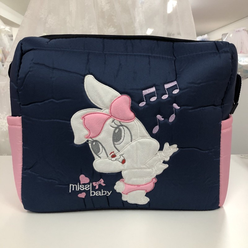 Чанта Миси : цвят: тъмно-син/розово зайче