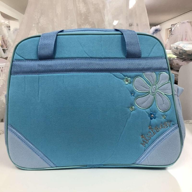 Чанта Миси : цвят : синьо цвете