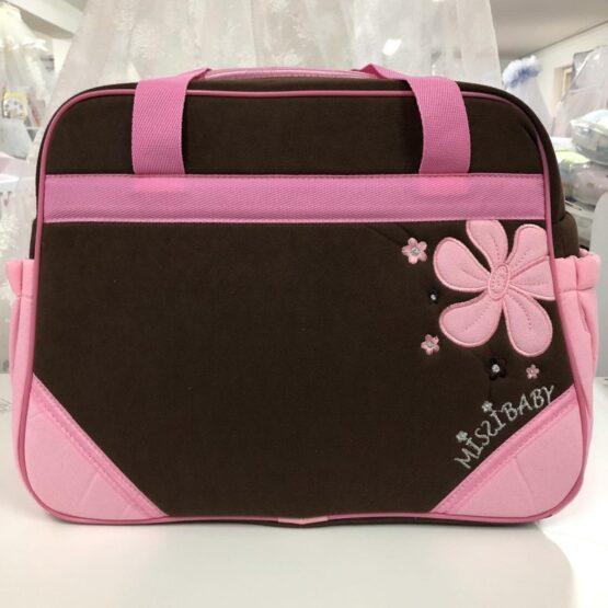 Чанта Миси : цвят : кафяв/розово цвете