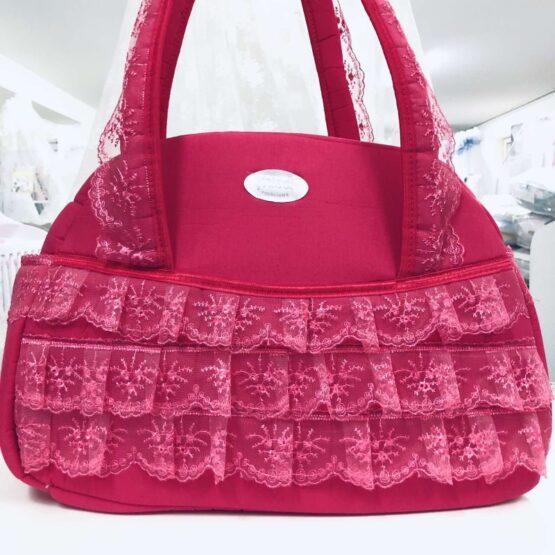 Чанта Миси Лукс : цвят: циклама/дантела