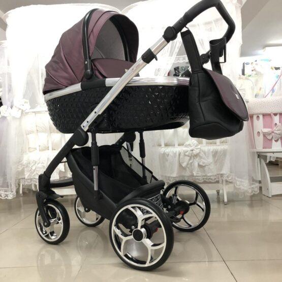 Бебешка количка Xsara 3в1: цвят: лилав