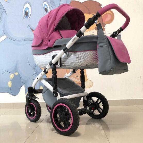 Бебешка количка Huracan 3в1: цвят: розов