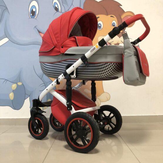 Бебешка количка Huracan 3в1: цвят: червен