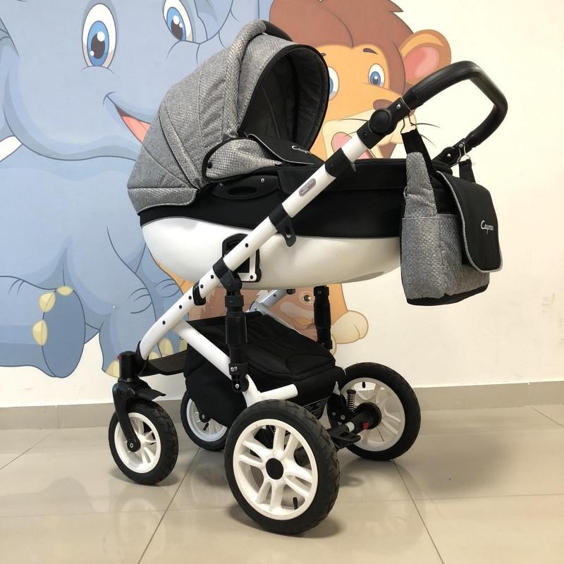 Бебешка количка Cayman 3в1: цвят: сив/черен