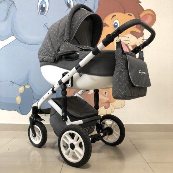 Бебешка количка Cayman 2в1: цвят: сив