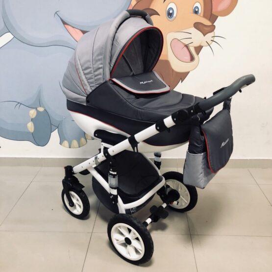 Бебешка количка Macan 3в1: цвят: сив