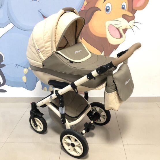 Бебешка количка Macan 3в1 :цвят: бежов