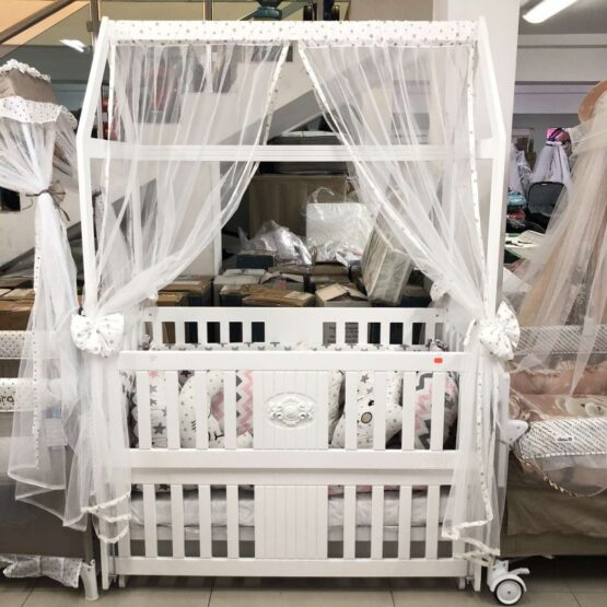 Бебешко легло-люлка Къщичка: цвят: розов