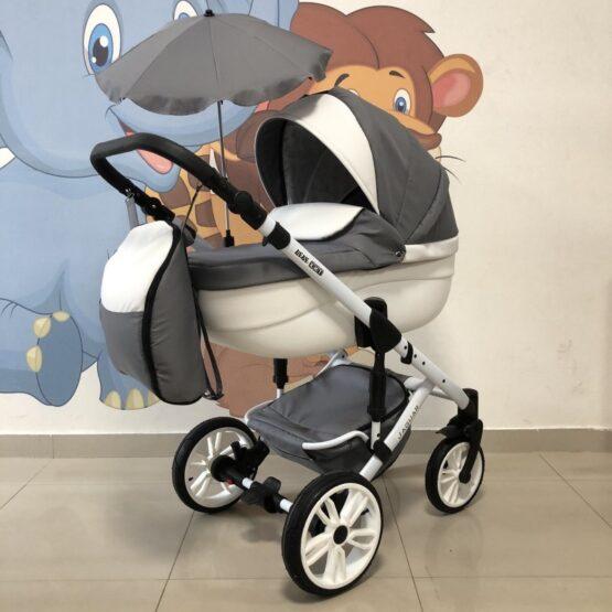Бебешка количка Jaguar 2в1+ чадър: цвят: сив