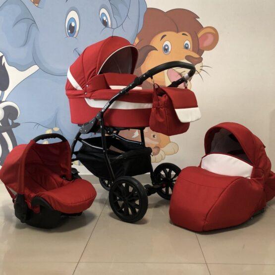 Бебешка количка Alvaro 3в1: цвят: червен