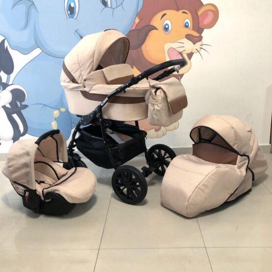 Бебешка количка Alvaro 3в1: цвят: бежов