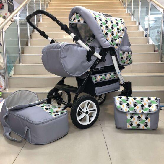 Бебешка количка Ross: цвят: сив