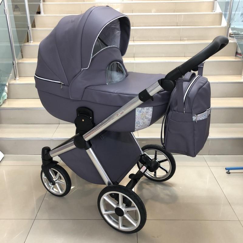 Бебешка количка Азуро 2в1: цвят: лилав