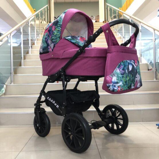 Бебешка количка Cooper 3в1: цвят: циклама