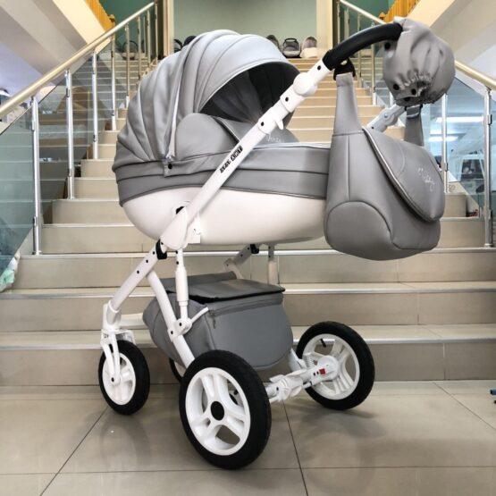 Бебешка количка Versay Eco 3в1: цвят: сив