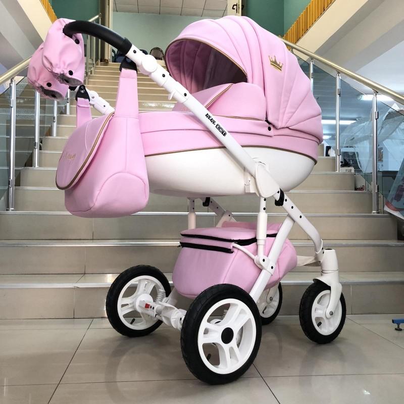 Бебешка количка Versay Gold 3в1: цвят: розов