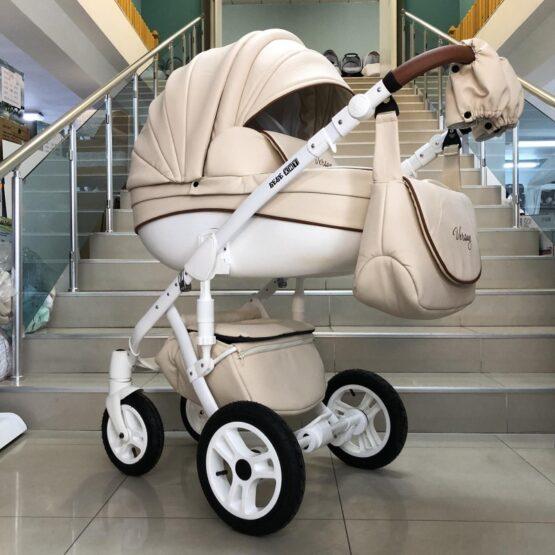 Бебешка количка Versay Eco 3в1: цвят: крем