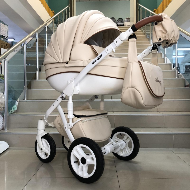 Бебешка количка Versay Eco 2в1: цвят: крем