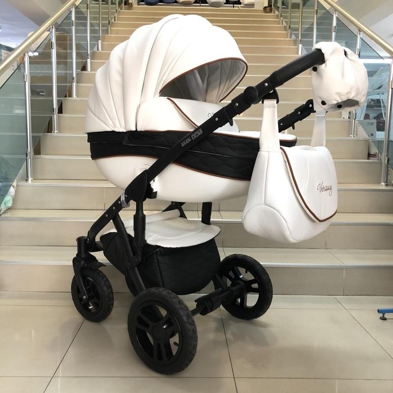 Бебешка количка Versay Eco 3в1: цвят:бял/черен