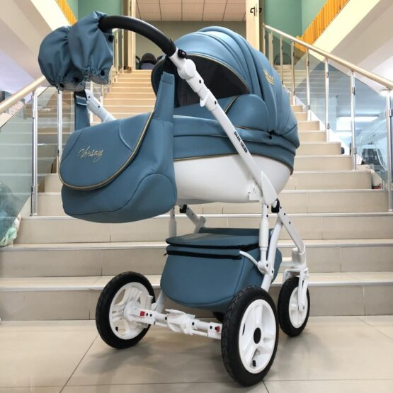 Бебешка количка Versay Gold 3в1: цвят: светло син