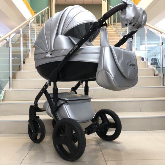 Бебешка количка Versay Eco 3в1: цвят: сребро
