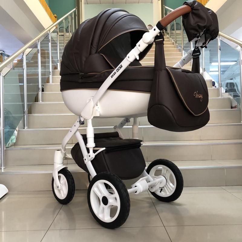 Бебешка количка Versay Eco 2в1: цвят: тъмно кафяв