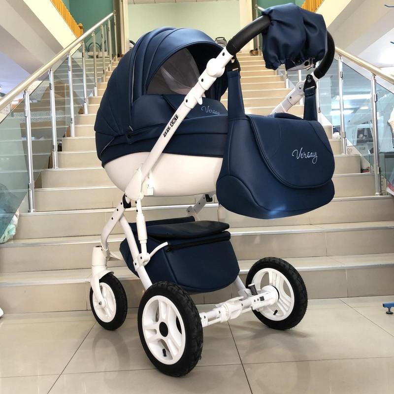 Бебешка количка Versay Eco 3в1: цвят: тъмно син