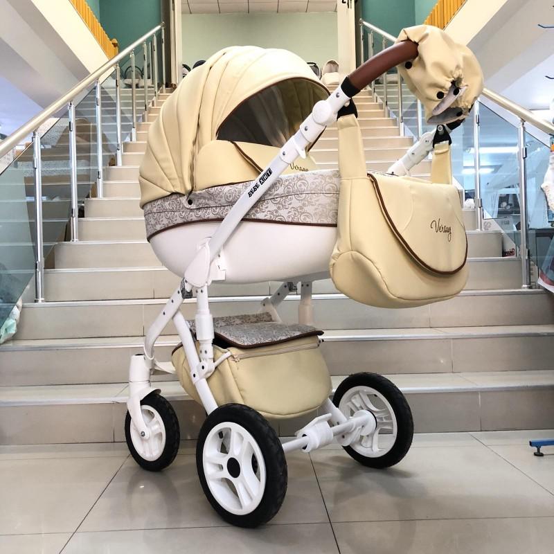 Бебешка количка Versay Eco 2в1: цвят: крем/шарки