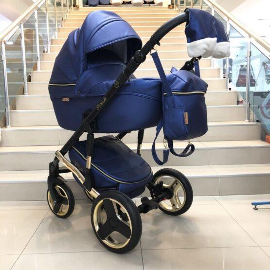 Бебешка количка Comodo 3в1: цвят: син