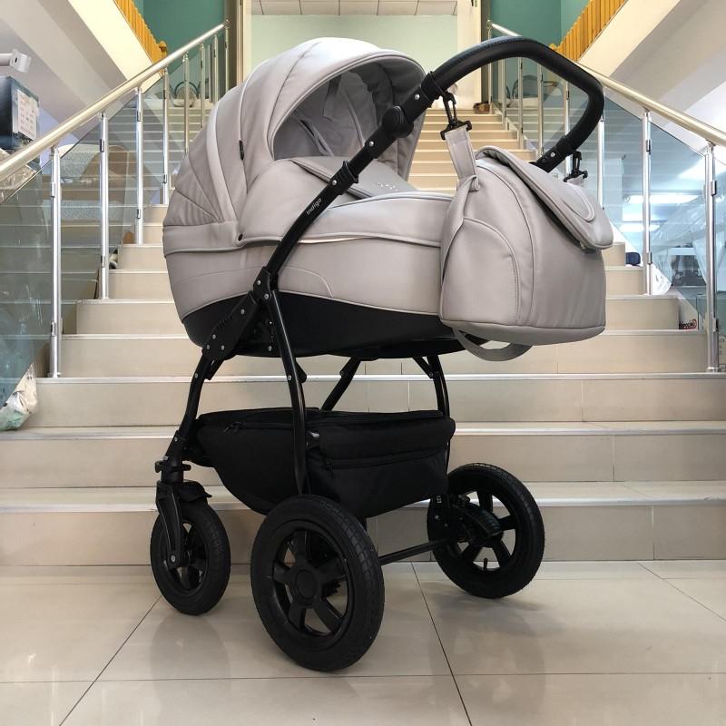 Бебешка количка Indigo SP18 2в1: цвят: сив
