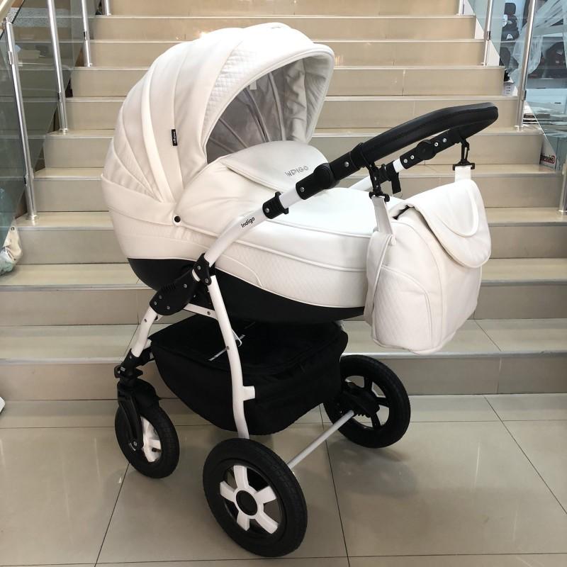 Бебешка количка Indigo SP18 2в1: цвят: бял