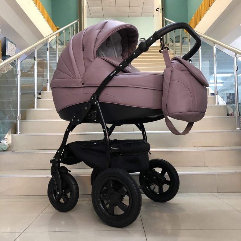 Бебешка количка Indigo SP18 2в1: цвят: лилав