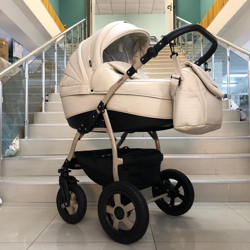 Бебешка количка Indigo SP18 2в1: цвят: крем