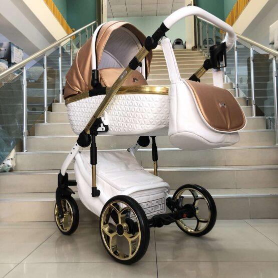Бебешка количка Xsara 3в1: цвят: бял/златно капучино