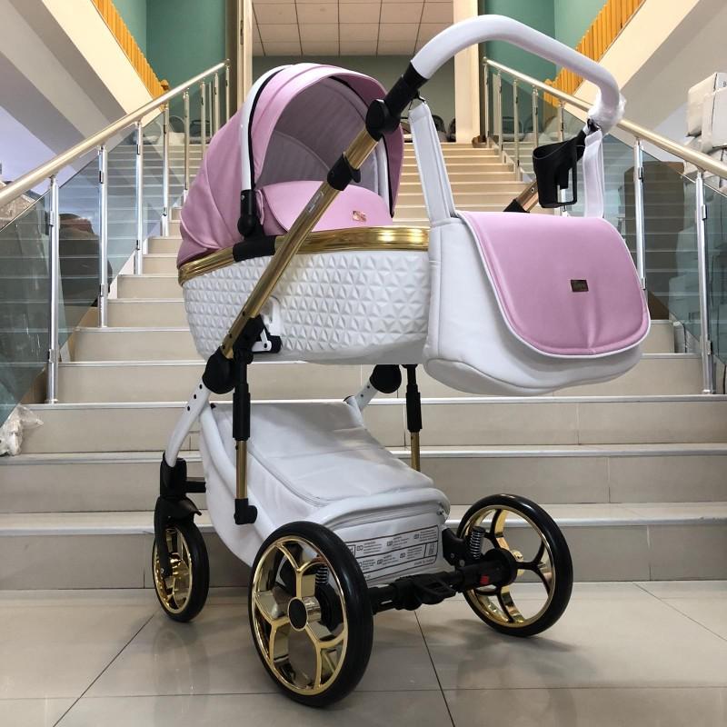 Бебешка количка Xsara 2в1: цвят: бял/розов