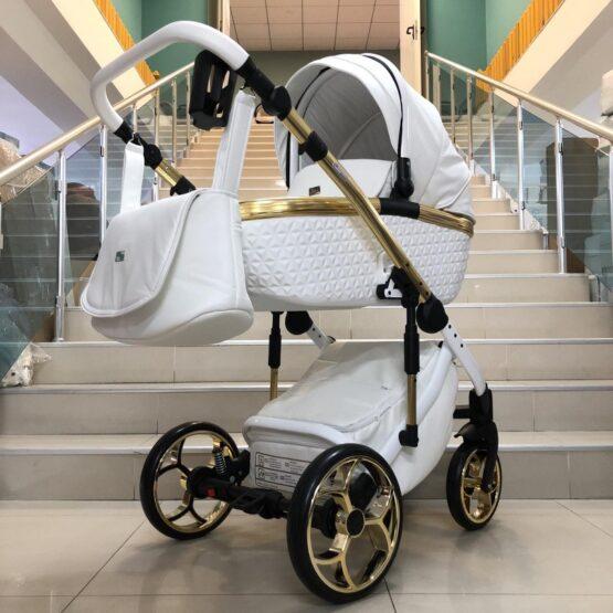 Бебешка количка Xsara 3в1: цвят: бял
