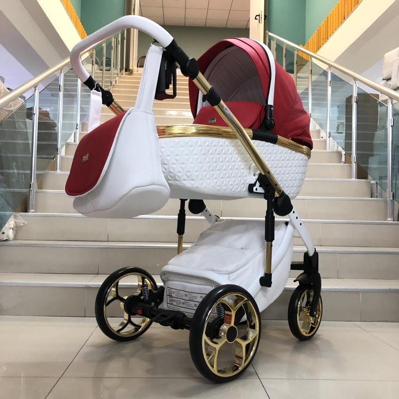 Бебешка количка Xsara 2в1: цвят: бял/червен