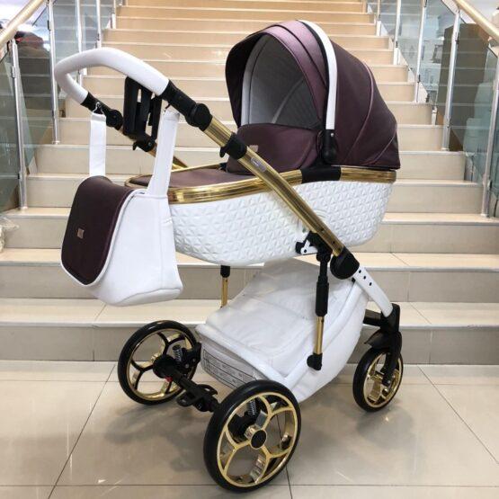 Бебешка количка Xsara 3в1: цвят: бял/Бордо