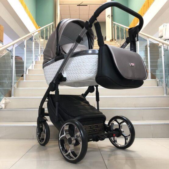 Бебешка количка Xsara 3в1: цвят: черен/бронз/сребърен