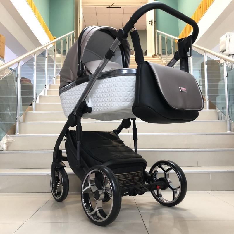 Бебе количка Xsara 2в1: цвят: черен/бронз/сребърен
