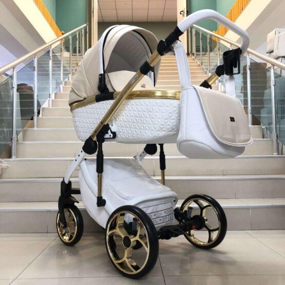Бебешка количка Xsara 3в1: цвят: бял/крем