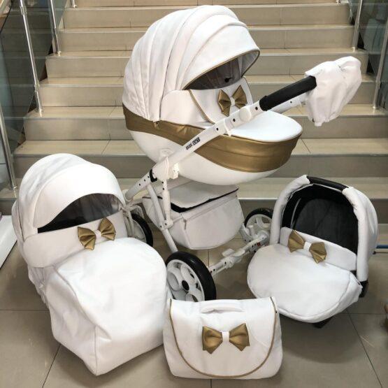 Бебешка количка Versay Панделка 3в1: цвят: бял