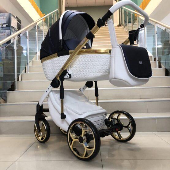 Бебешка количка Xsara 3в1: цвят: бял/тъмно син